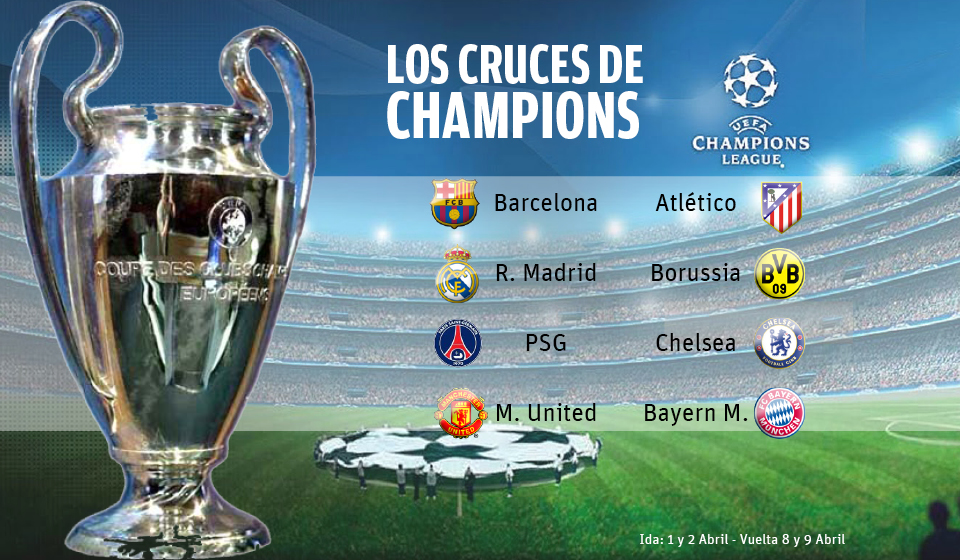 Cuartos de final champios league for Cuartos de final champions