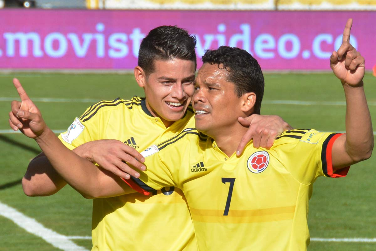 Bacca y James con Colombia