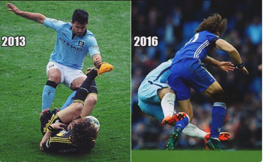 sergio aguero vs david luiz