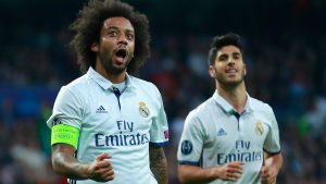 Marcelo con el Real Madrid