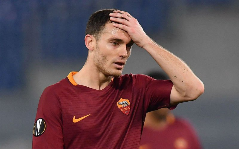 vermaelen se lamenta en la europa league con as roma