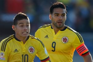 James y Falcao con Colombia