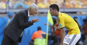 Pékerman y James con Colombia