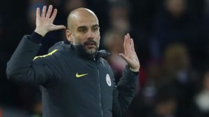 Pep Guardiola en el city