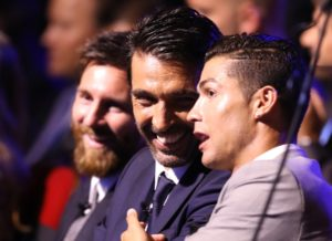 Buffon, Messi y Ronaldo