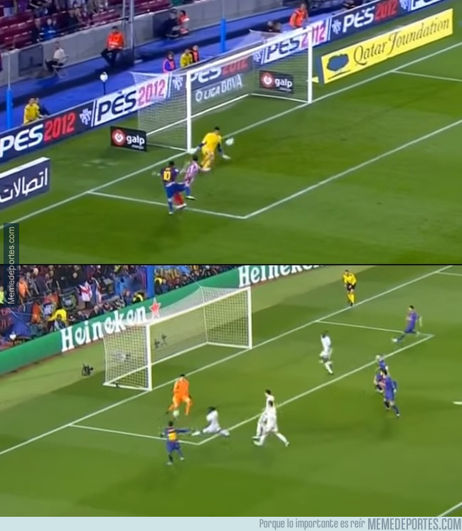 Courtois y Messi