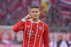 James con el Bayern