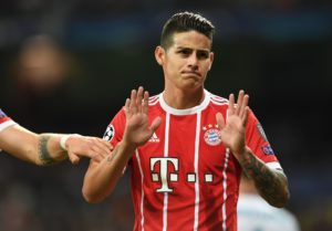 james rodriguez en el bayern munich real madrid champions