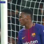 blooper yerry mina barcelona