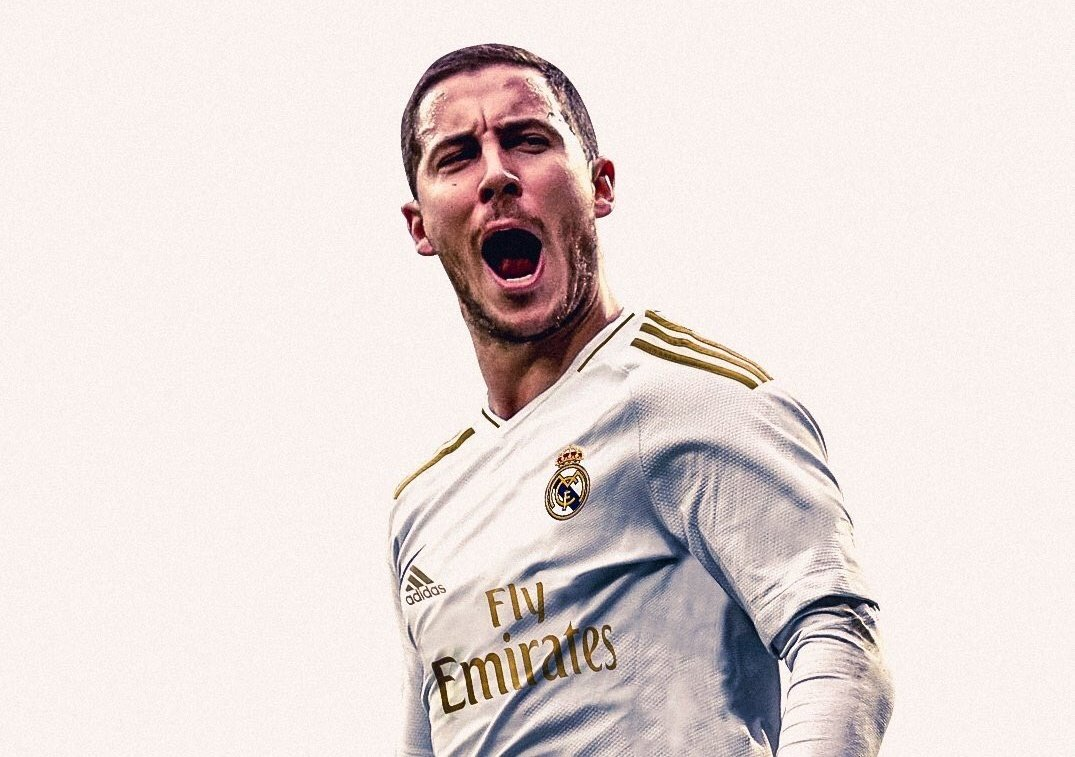 hazard con la camiseta del real madrid 2019