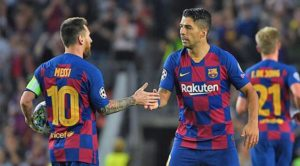 messi y luis suarez champions league